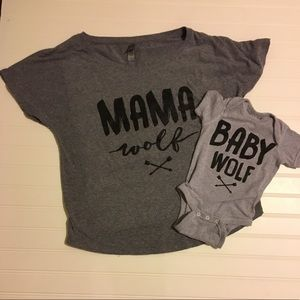 Other - Mama Wolf and Baby Wolf set